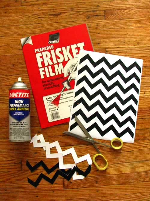 Frisket Film and Chevron Pattern to Decorate your Old Fan