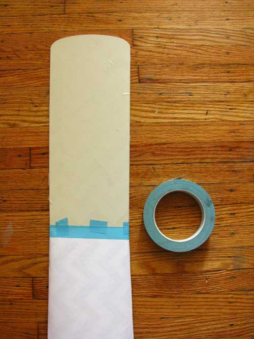 Carefully put masking tape on the fan-blade edges and any other part of the fan blade that you do not want painted.