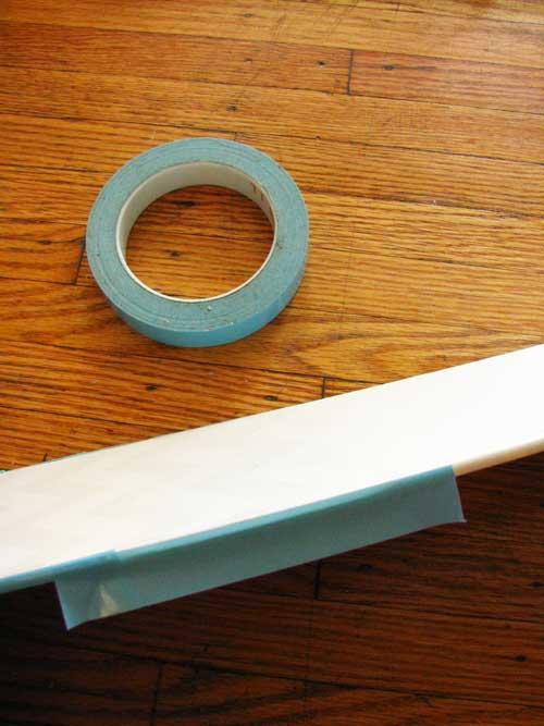 Carefully put masking tape on the fan-blade edges